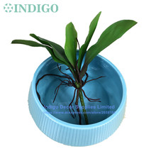 INDIGO- Real Touch Orchids Leaves Green Table Decoration Grass Artificial Branches Greenery Green Plant Free Shipping