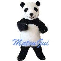Реальное изображение китайский панда талисман костюм платье для дня рождения на Хэллоуин
