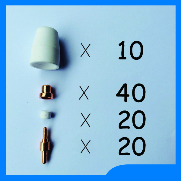 Double eleven shopping spree PT31 LG40 Air Plasma Cutter Cutting Torch Accessories KIT Plasma Nozzles TIPS Cut50 50D CT312,90PK happy shopping pt31 lg40 air plasma cutting