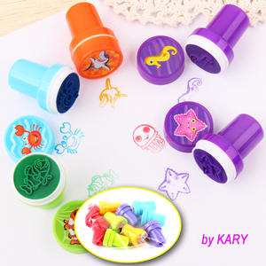 10pcs/Set Children Toy Stamps Cartoon Farm Animals Fruits Kids Seal Scrapbooking Stamper DIY Toys For Kids Many Styles to Choose