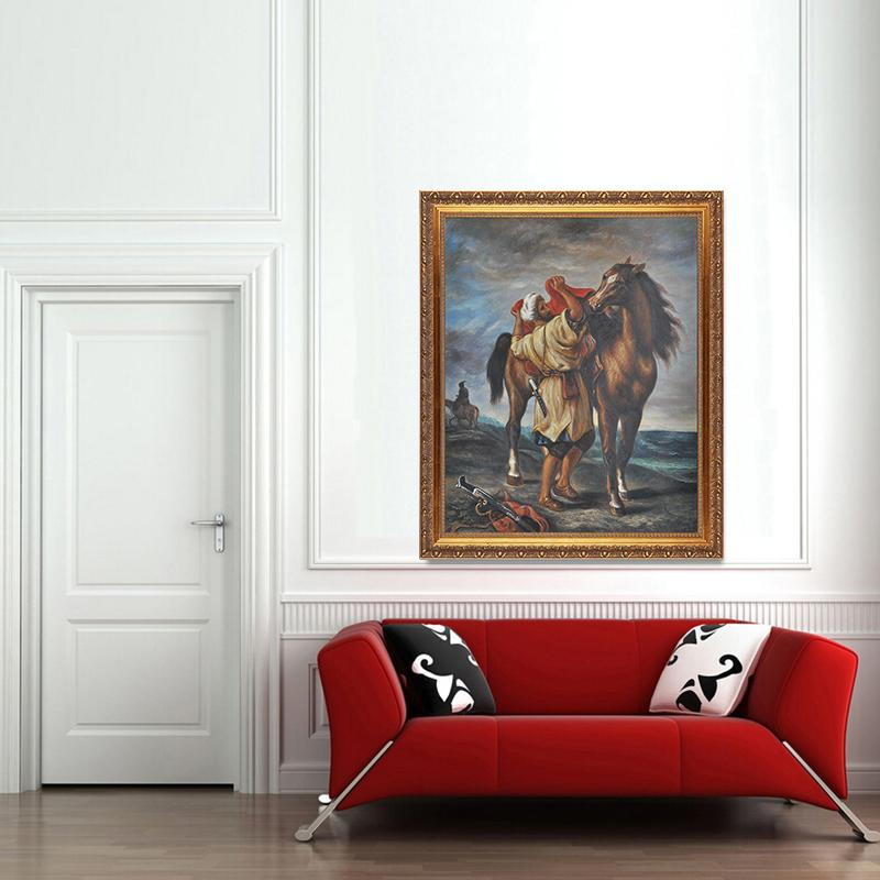 Home Goods Wall Art home goods wall art handmade famous artwork marocan and his horse