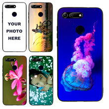 Honor V20 case Custom Personalized Make your Photo pattern images Hard Body Soft Side Phone Case Cover huaweinova3 case custom personalized make your photo pattern images hard body soft side phone case cover