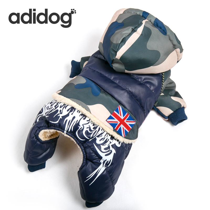 Waterproof Fabric Pet Dog Clothes Thickening Warm Camouflage Dog Coat Jacket Clothing For Chihuahua Small Large Dogs S-xxl