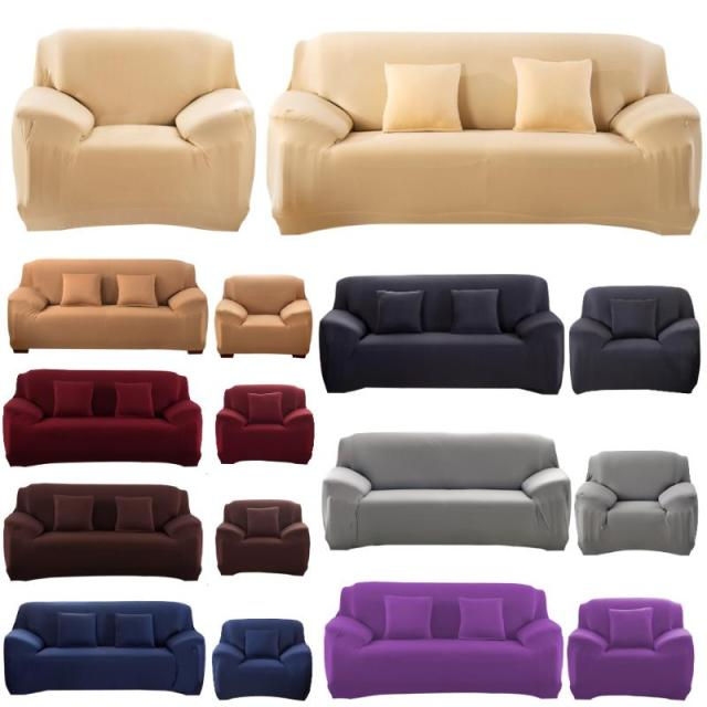 Sofa Cover Slipcover Stretchable Pure Color Cushion Washable Covers Single Two Three