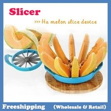 TV hot product!HOME Ha melon slice device Kitchen Fruit Corer Slicer Cutter  Free Shipping
