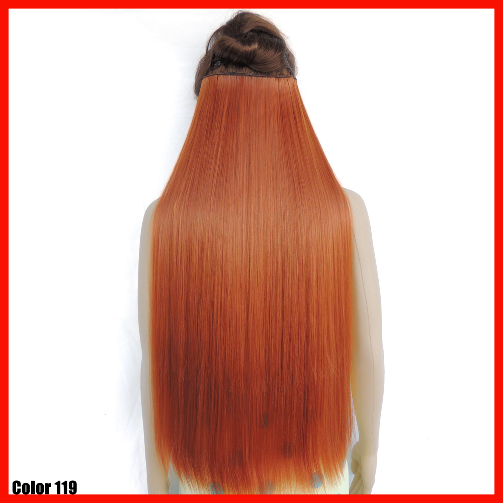 hair extension 28inch synthetic clip in extensions pieces straight yellow red haar extentions. Black Bedroom Furniture Sets. Home Design Ideas