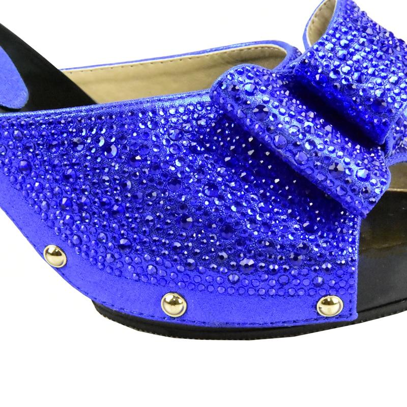 Decorado Para Color Zapato Deslizamiento De plata Fiestas Africano En oro Juego Zapatos Y Bolsa Set azul Emparejar Latets verde rojo Matching Negro Con Rhinestone Negro Bolso zwTqdZx7