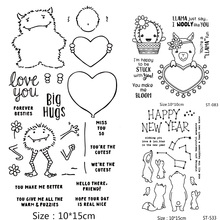 ZhuoAng Cartoon/Lovely Animals Bear Alpaca Clear Stamps For DIY Scrapbooking/Card Making/Album Decorative Silicone Stamp Crafts