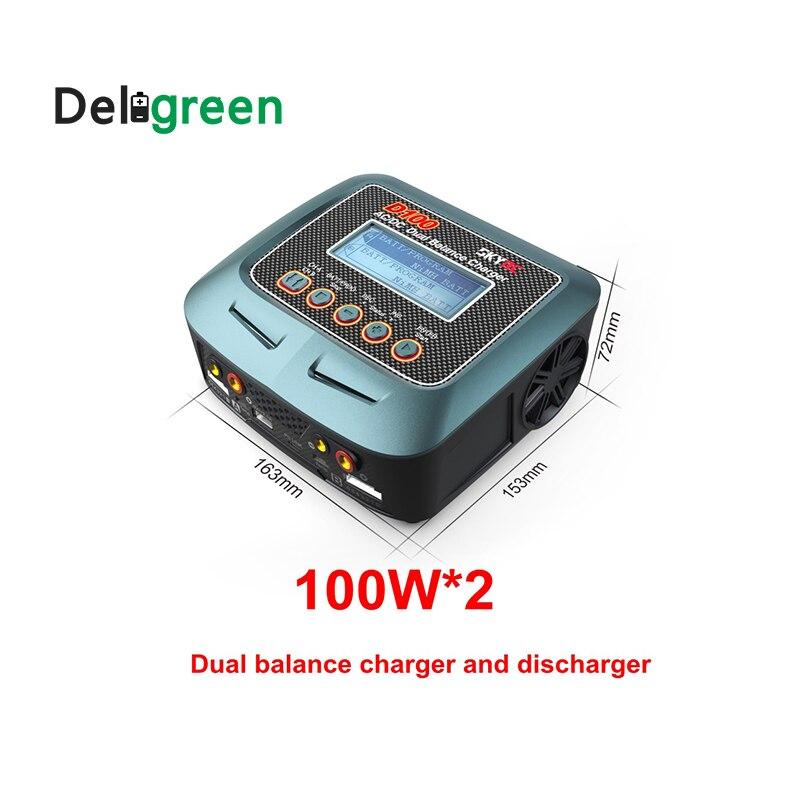 Skyrc D100 V2 Зарядное устройство Twin-канал 2x100WAC DC LiPo 1-6s двойной с Bluetooth баланс Зарядное устройство Dis Зарядное устройство для Lipo литий-ионный Батар...