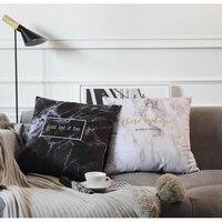 Nordic Decorative Pillow case Cuscino di Pietra Bianco Rosa Cuscino Patterned Copertura Cuscino di Velluto Sedia Cuscino del Divano Cuscino del Sedile