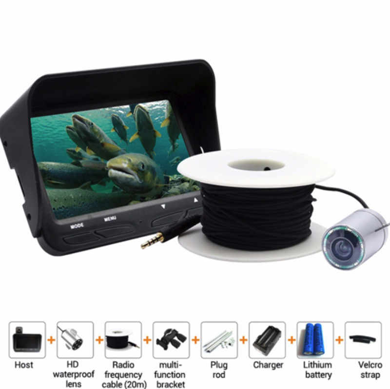 Fish Camera 30m 720P Professional Fish Finder Underwater Ice Fishing Camera Night Vision 6 Infrared 4.3 inch LCD Monitor