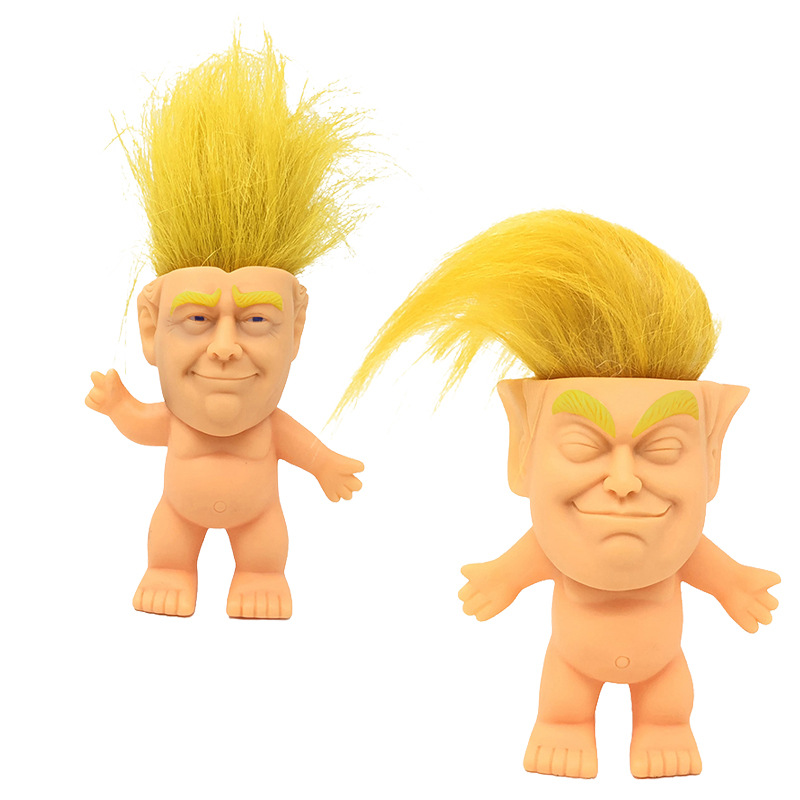 2018 hot trump silicone troll doll Creative simulation Trump hand-made ornaments direct