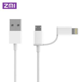 Оригинальный Xiaomi ZMI MFI сертифицирован для iPhone Lightning к Micro USB кабель для передачи данных 2 в 1 зарядное устройство кабель для iPad samsung huawei