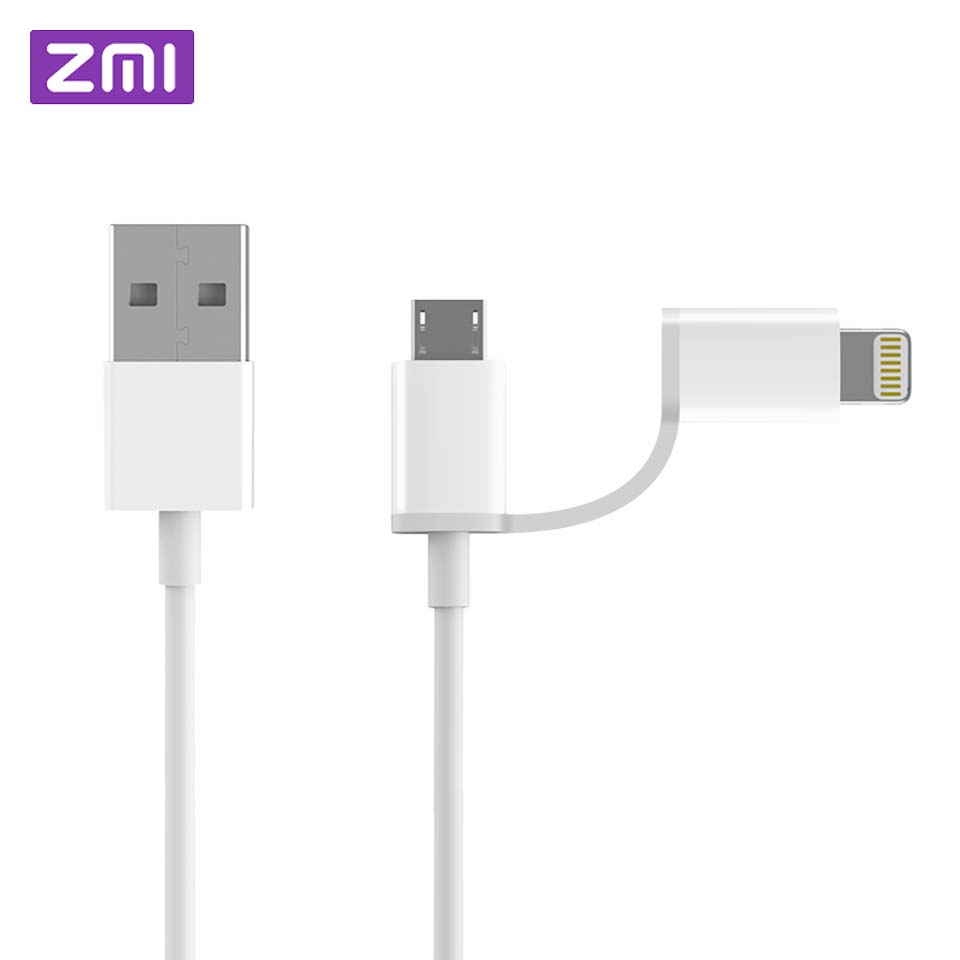 fbf77233ee0204 Original Xiaomi ZMI 2 in 1 Micro USB Type-C Cable Sync Fast Quick Charger
