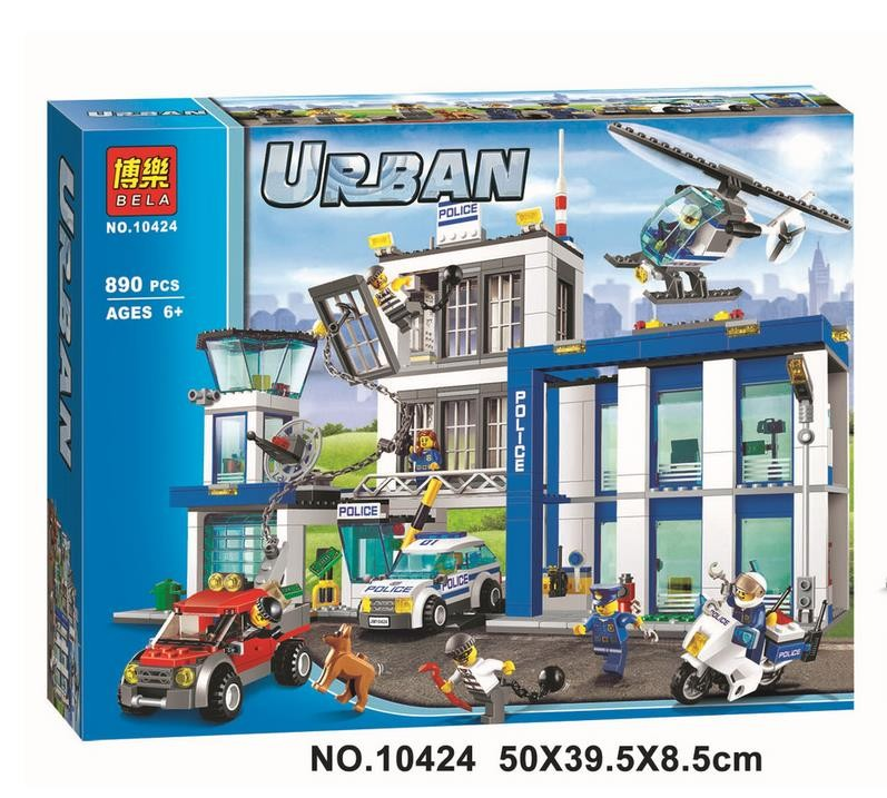NEW 890 PCS BELA City series the Police Station model building blocks children s Classic toys