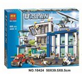 NEW 890 PCS BELA City series the Police Station model building blocks children's Classic toys Compatible with Legoed 60047