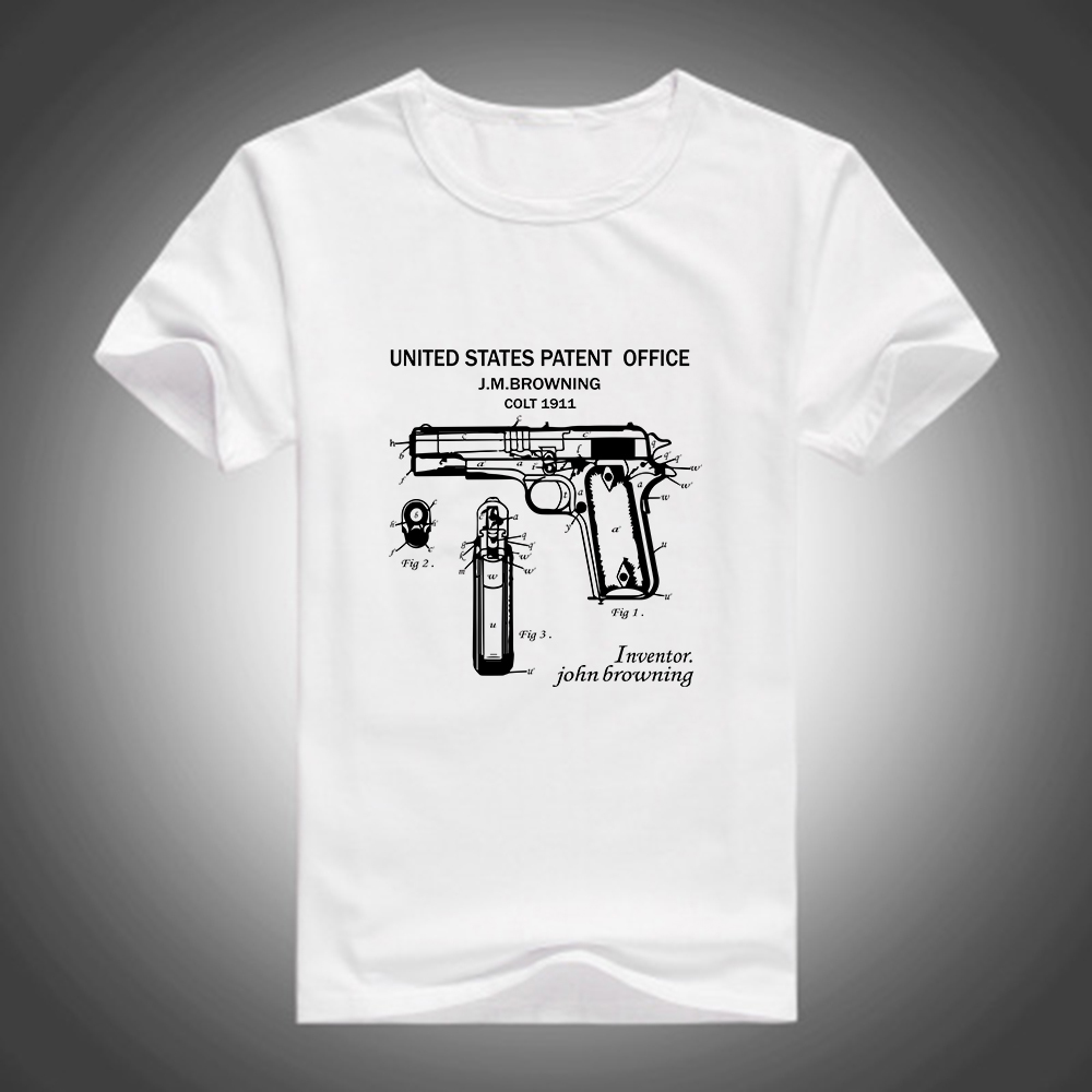 Fashion United States Patent New Harajuku Gun Printed Men Boy ...