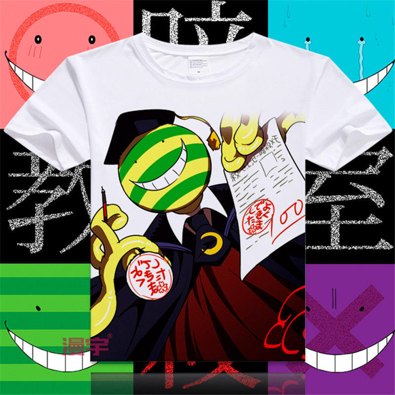 ad3cd62f7 Nova Anime T - camisa camisa Casual T assassinato Classroom Cosplay verão  manga curta Tops moda Unisex Plus Size Tees S-XXXL