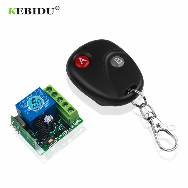 KEBIDU 433 Mhz Remote Controls RF Transmitter with Universal Wireless Remote Control Switch DC 12V 1CH relay Receiver Module