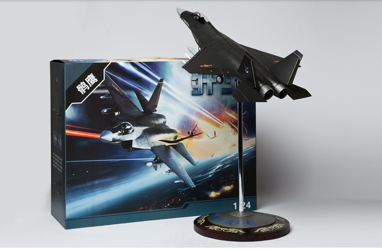 The latest China fighter 56 cm J-31 fighter model J31 Falcon Eagle aircraft model 1:24 China airforce CPLA цены