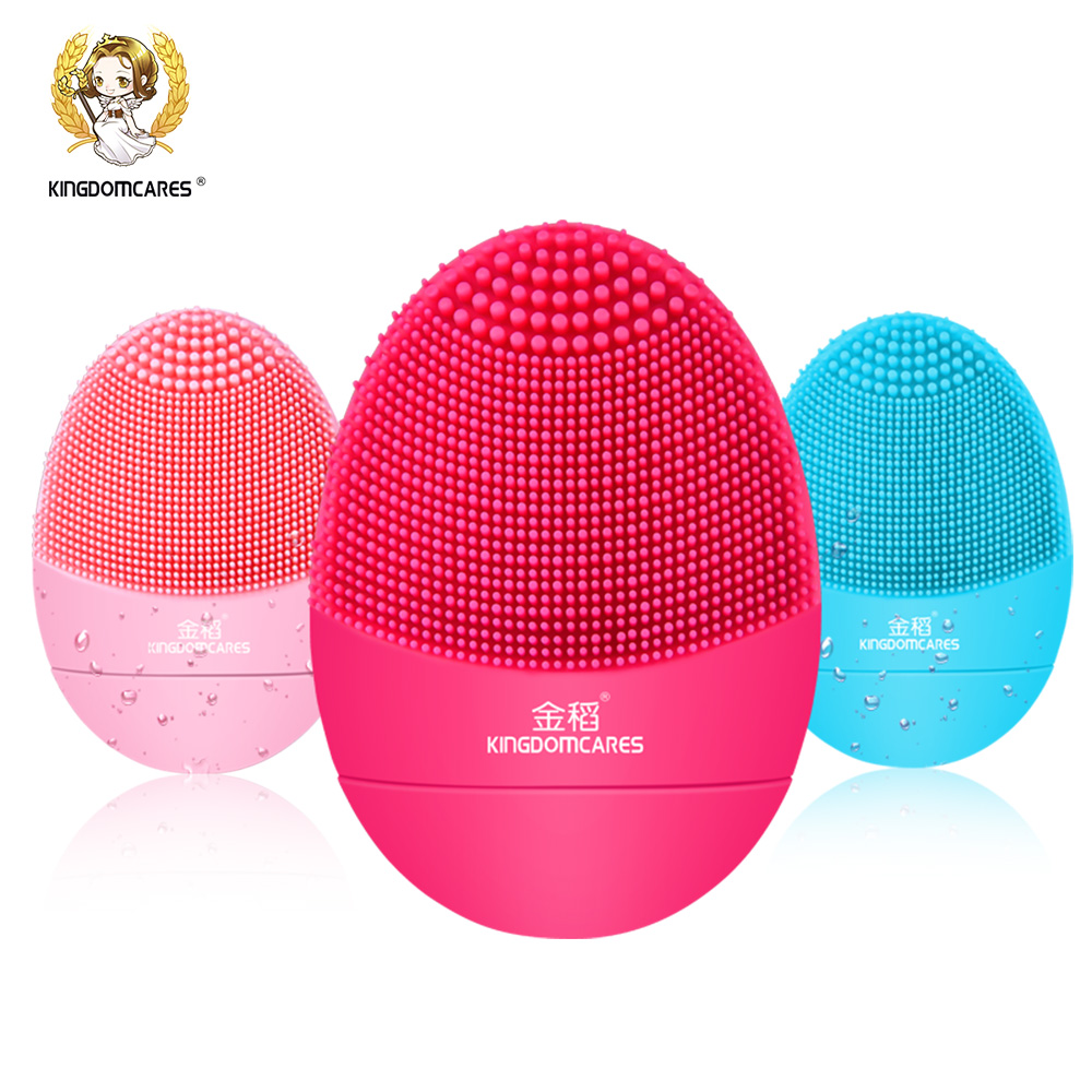 Kingdom Facial Cleansing Brush Sonic Vibration Mini Face Cleaner Silicone Deep Pore Cleaning Electric waterproof Massage