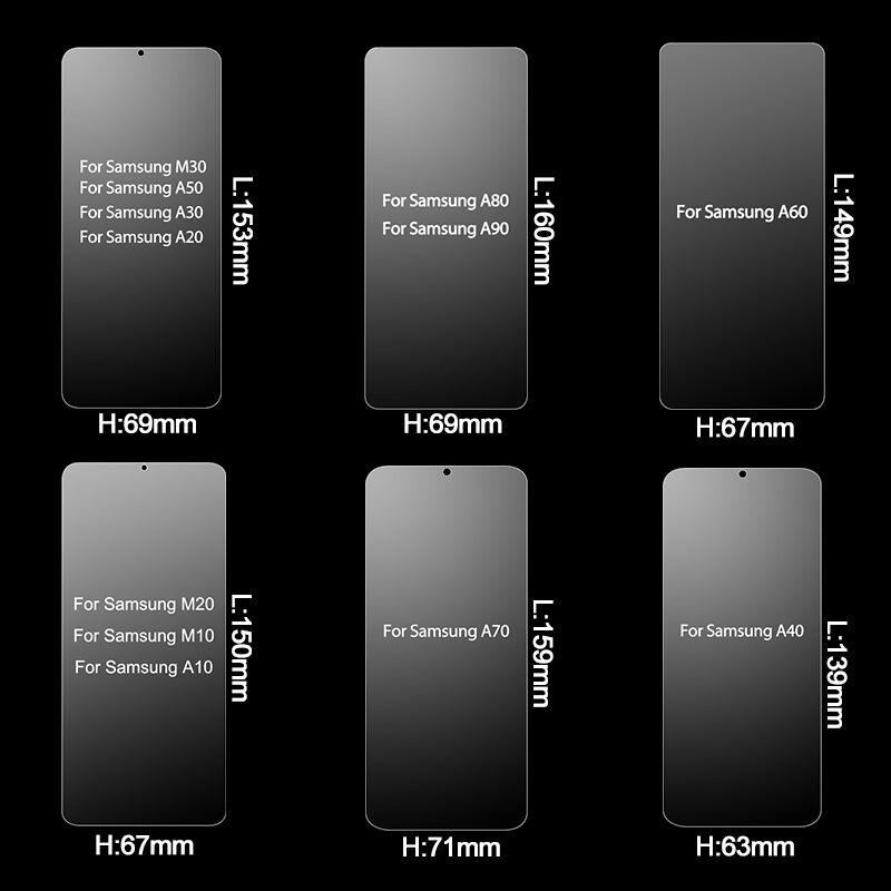 Image 3 - 2 個強化ガラス三星銀河 A50 A10 A70 スクリーンプロテクター三星 A50 A30 A20E A70 A60 a80  A20 A10 ガラス -    グループ上の 携帯電話