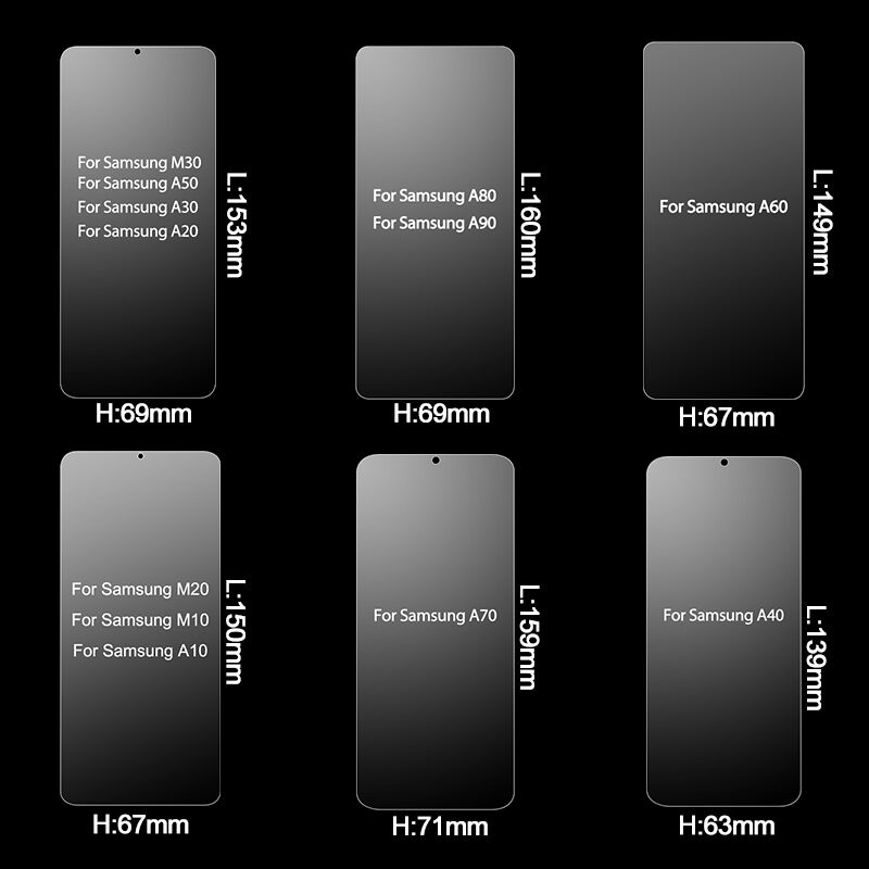 Image 3 - 2Pcs Tempered Glass for Samsung Galaxy A50 A10 A70 Screen Protector Glass for Samsung A50 A30 A20E A70 A60 A80 A20 A10 Glass-in Phone Screen Protectors from Cellphones & Telecommunications