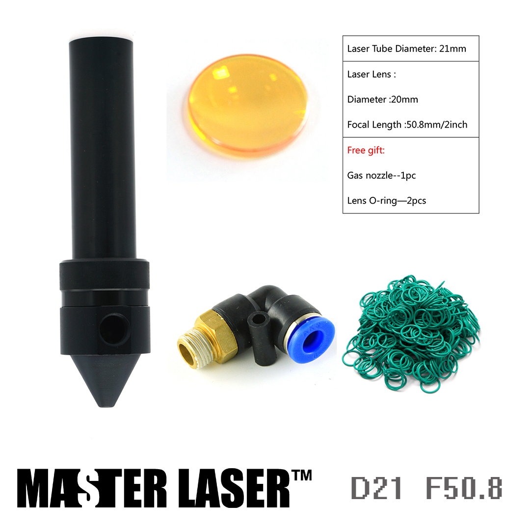D21mm Laser Head Tube for CO2 Laser Cutting Head CNC Cutting Head Laser Cutting Machine CO2 Engraving Machine robotec mini small card small business laser engraving cutting machine cnc co2 6040 4060
