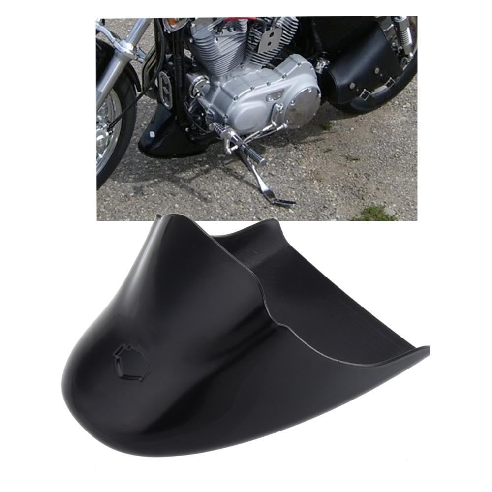 ФОТО Motorcycle Lower Fairing Front belly pan Spoiler For Harley Davidson Sportster 883 XL1200 2004-2014 Gloss Black