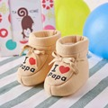 Love Papa Winter Cotton Baby Shoes for Boy Girl Boots Newborn Infant Toddler Moccasins Slipper Home New Year Baby Walker D33