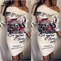 Новое Лето Сексуальная С Длинными рукавами Платья Женщин Dress Европейский Европейский и Американский стиль Сарафан Высокое Качество Вечер Club Dress