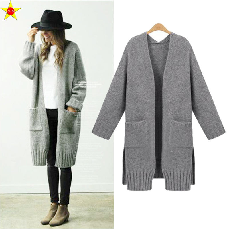 XL 5XL Plus Size Women Casual Sweater New 2019 Autumn Winter Fashion Loose Knitted Cardigans Sweater