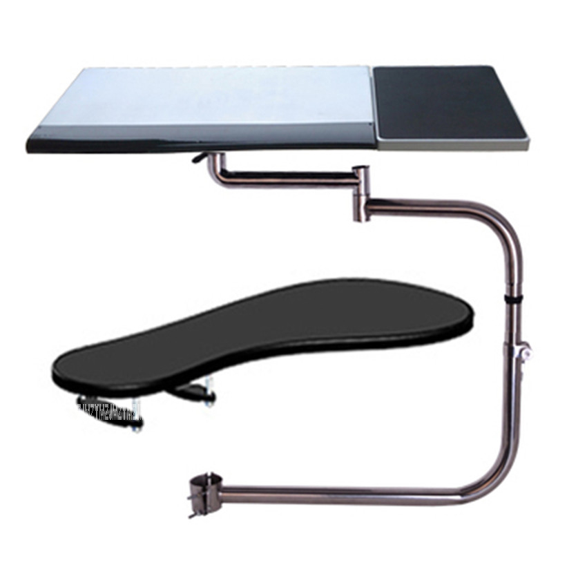 OK-010 Multifunctional Full Motion Chair Clamping Keyboard Holder Lapdesk+Square Mouse Pad+Chair Arm Clamping XL Size Mouse Pad