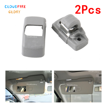 3B0857561B 2Pcs Sharan Grey Gray Sun Visor Sunvisor Hook Clip Bracket Hanger For Volkswagen Je tta Golf Passat Beetle Bora image