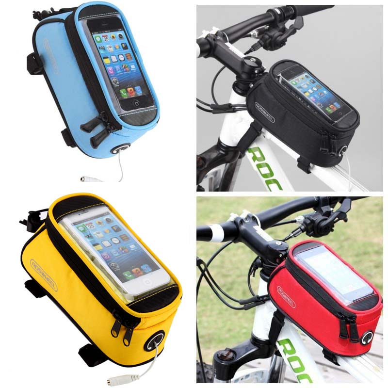 """5.5/"""" Waterproof Cycling Bike Bicycle Bags Front Frame Pannier Tube Bag Mobile"""