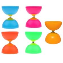 Jouet de jonglage à roulement en plastique Diabolo à 1 roulement professionnel chinois Yo-yo 2 bâtons et 1 jouets à cordes