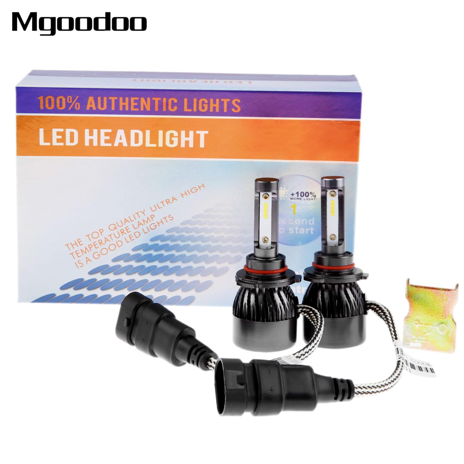 9006 LED Headlight 44W 5600LM Car Led Headlights Conversion Kit High/Low Beam Bulbs 6000K Auto Replacement Super Bright Headlamp