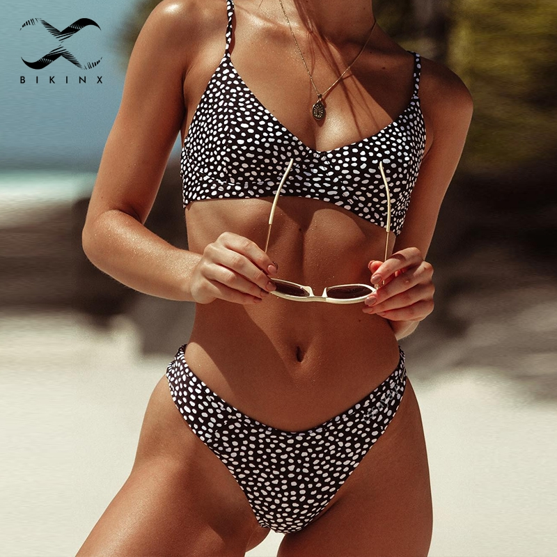 Bikinx Push Up Swimsuit Female 2019 Dot Sexy Bikinis Mujer Bathing Suit Women Biquinis High Cut Swimwear Summer Two-piece Suit