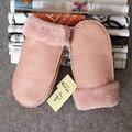 2016 luvas de inverno Moda feminina pele morno luvas & mittens 8 cores de lã de couro genuíno. de alta qualidade. muito bonita