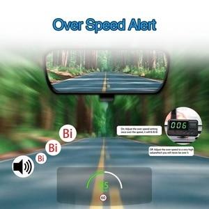 Image 4 - Universal Hud Gps Snelheidsmeter Head Up Display Auto Snelheid Display Met Over Snelheid Alarm Mph Km/H Voor Alle voertuig A100 Upgrade