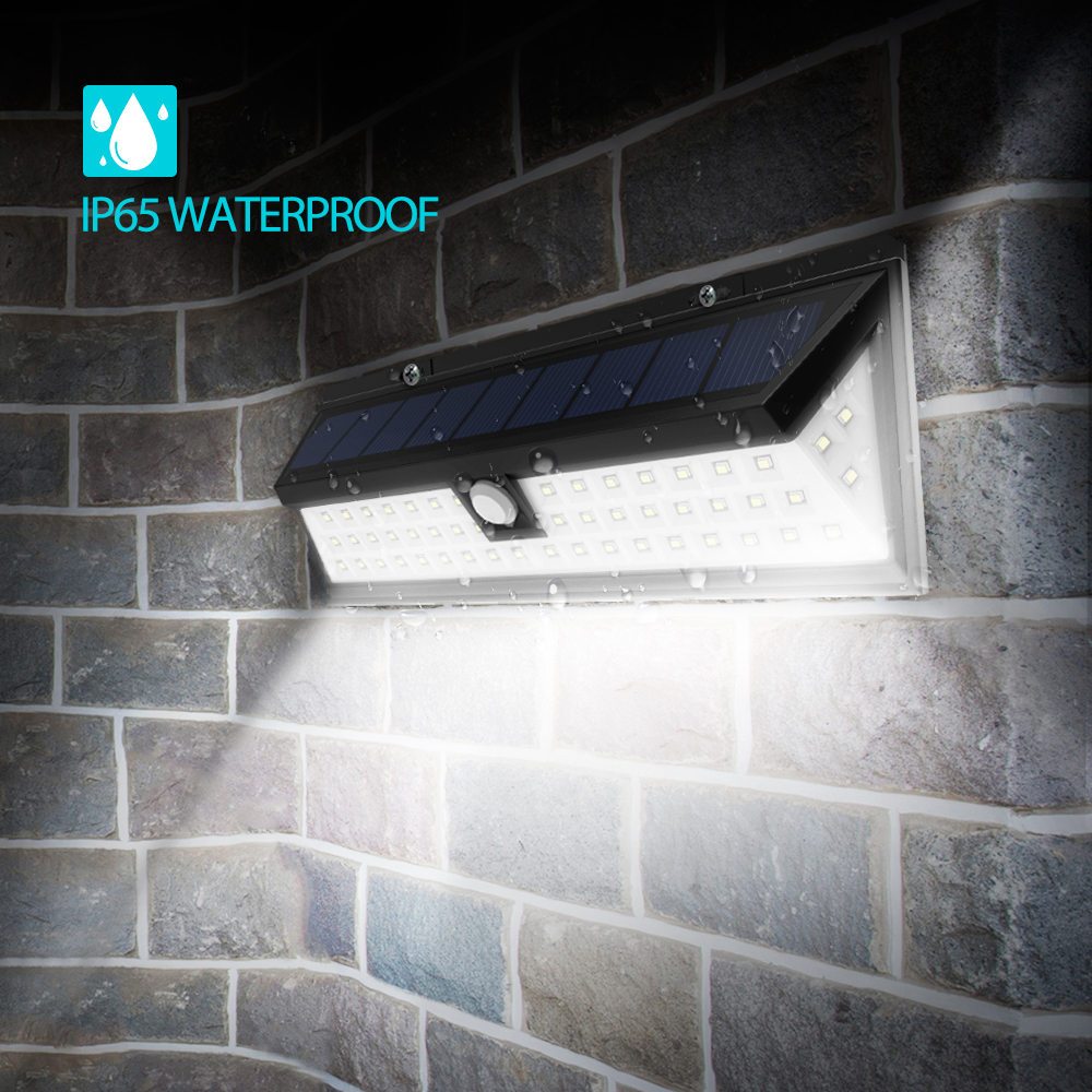 litom 54 led solar lamp waterdichte groothoek motion sensor zonne verlichting 120 graden draadloze buiten muur activated dek licht in litom 54 led solar