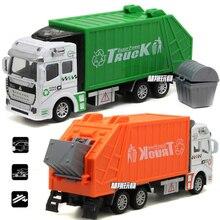 Высокое качество 1:32 мусоровоз игрушечный автомобиль как подарок на день рождения Juguete развивающий чистый мусорный автомобиль детские игру...