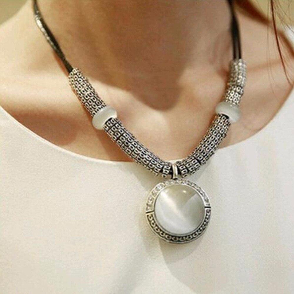 TOMTOSH 2017 Fashion Opal Statement Necklacess