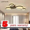 LOFAHS современная светодиодная люстра освещение круг кольцо Потолочная люстра светильник или столовая гостиная спальня lutre ledlamp