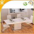 ( 1 mesa + 6 cadeiras ) 1.3 m de alta brilho paitning mesa e cadeira para sala de jantar # CE-HM110