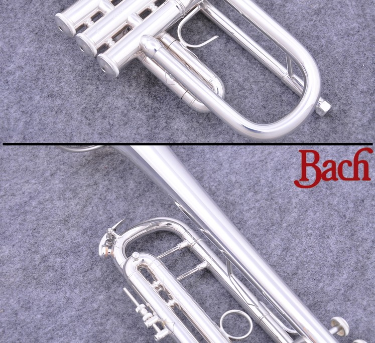 Brass Instruments Nice Taiwan Bach Original Authentic Double Silver-plated Lt180s37 Bb Professional Trumpet Musical Instruments Case Mouthpiece Muted Low Price