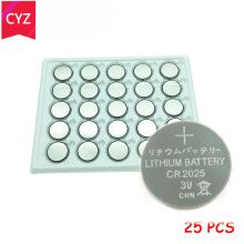 25pcs/Lot CR2025 3V Cell Coin Button Battery lithium Li-ion ECR2025 DL2025 BR2025 KL2025 L2025 Watches,clocks toys free shipping стоимость