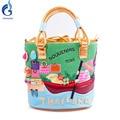 Gamystye Таиланд девушка Женщина сумки дизайнеры Souuenirs стиль tote симпатичные цвета конфеты холст сумки женские круглый сумка сумки