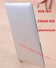 13.3inch aluminium notebook laptop computer 8GB 256GB SSD 1920*1080 HD screen Celeron 2957U bluetooth WIFI camera(China (Mainland))