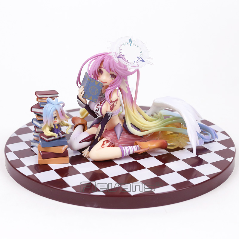 NO GAME NO LIFE Jibril 1/7 Scale PVC Figure Collectible Model Toy 14cm 20cm anime life no game no life shiro game of life painted second generation game of life 1 7 scale pvc action figure model